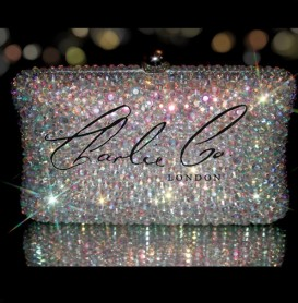 Glass AB Crystal Clutch Bag