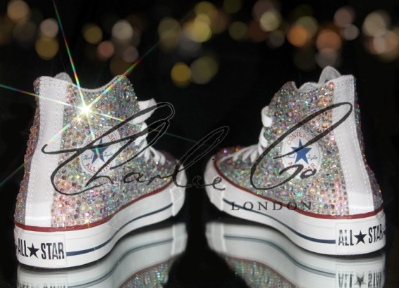 Swarovski Glass Crystal Converse