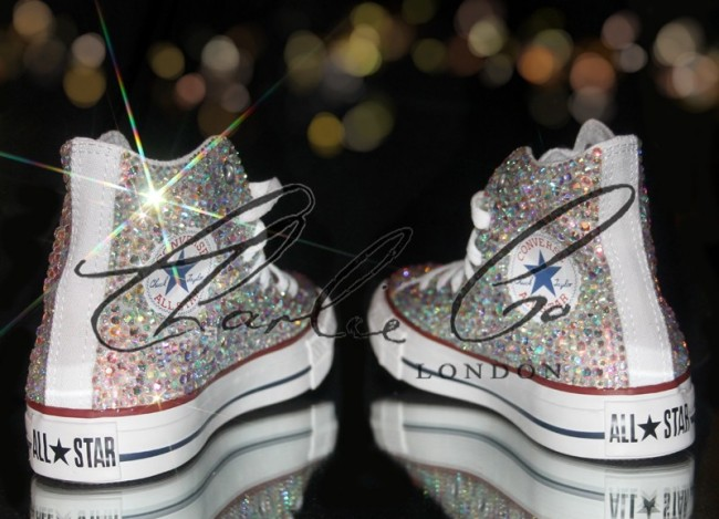 cc22e725cd55 Swarovski Glass Crystal Converse