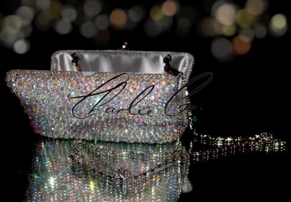 Glass AB Crystal Clutch Bag