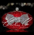 Red Crystal Mesh Bow Oval Crystal Clutch Bag