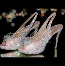 4.5 Slingback Madam Butterfly Peep Toe Heels