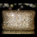 Champagne Crystal Hard Case Clutch Bag
