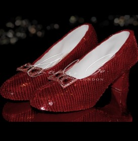 Ruby Sequin Slippers  Display Only