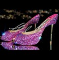 5 Swarovski Pencil Heels Fuchsia Fire Rock