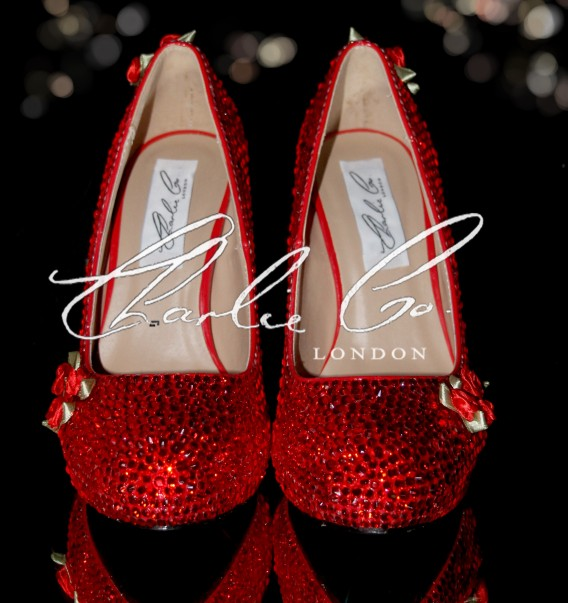 5 Scarlet Rose  Crystal Stilettos