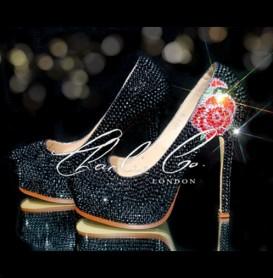 6 YSL Style Black Rose Series