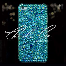 Emerald AB Swarovski Crystal Phone Case iPhone 4 4s