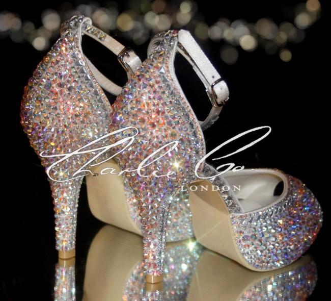 4 Signature Glass Swarovski Heels