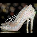 4 or 5 Swarovski  Glass Vintage AB Pointed Stilettos