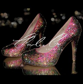 5 Glass Crystal Vitrail Light Heels