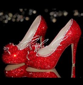 4.5 2013 Ruby Red Crystal Heels