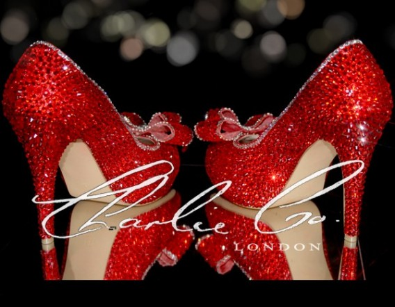 4.5 2018Ruby Red Crystal Heels