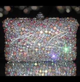 Diamond AB Rock Crystal Clutch Bag