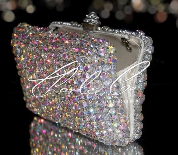Diamond AB Rock Crystal Clutch Bag