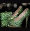 Lilly in Peridot Shoe Bag Set