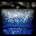 Blue Rain Crystal Clutch Bag