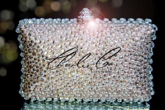 Swarovski Crystal Vintage Champagne Trim Clutch