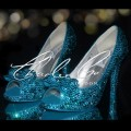 3  4 or 5 Blue Zircon Front Bow Crystal Shoes