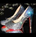 4 or 5 Black Diamond Crystal Heels