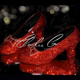 Crystal Costume Replica Ruby Court Slippers