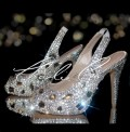 4.5 Slingback Ice Crystal Diamond Frost Heels
