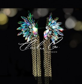 AB Navette Angel Crystal Earrings