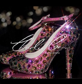 4 or 5 Diamond Toffee Apple Crystal Heels