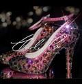 4 or 5 Diamond Toffee Apple Crystal Heels