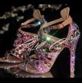4 Jungle Jewel Crystal Sandal Heels