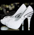 4 or 5 White Pearl Heels