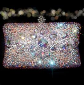 Juliette Crystal Detail Glass Crystal Clutch Bag