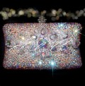 Juliette Crystal Detail Glass Crystal Clutch Bag