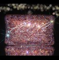 Light Rose AB Half Swarovski and Glass Crystal Clutch Bag