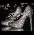 4.5 Mary Jane Crystal Rounded Toe Heels