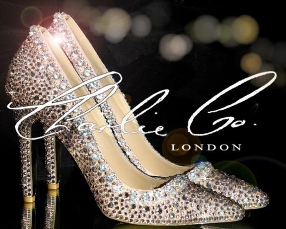 3  4 or 5 PinkRose Garden Crystal Heels