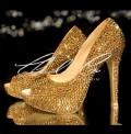 3  4 or 5 Platinum Gold Crystal Heels