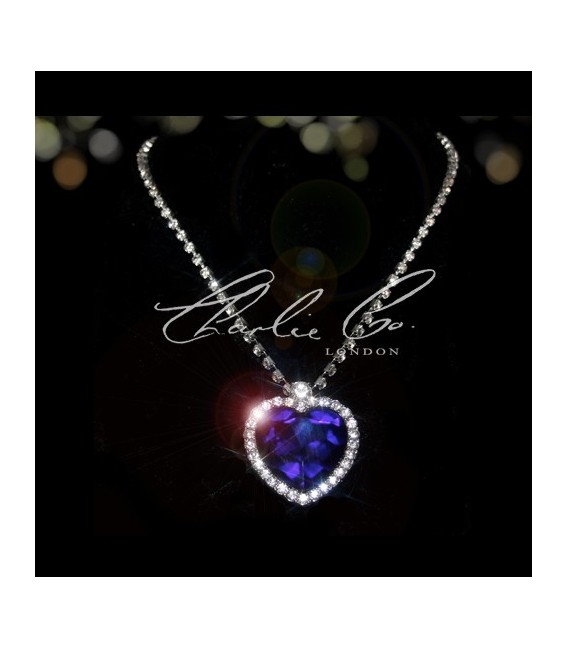 TitanicsHeart Of The Ocean Swarovski Sapphire Necklace