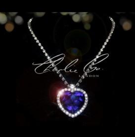 TitanicsHeart Of The Ocean Swarovski Sapphire Necklace