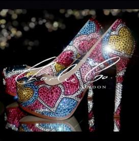 6 YSL StyleLove Explosion Multi Colour Crystal Heels