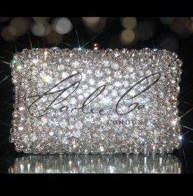Diamond Rock Crystal Clutch Bag