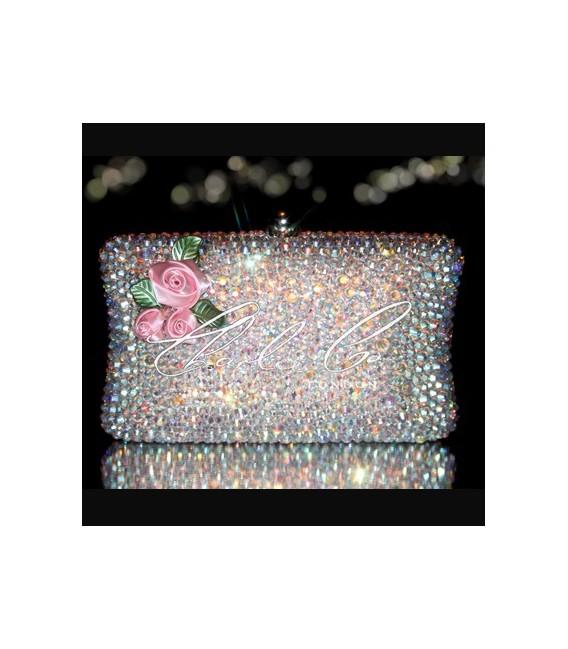 Dolls House 3D Flower Crystal Hardcase Clutch Bag