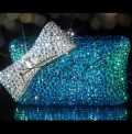 Deep Sea Crystal Bow Clutch Bag