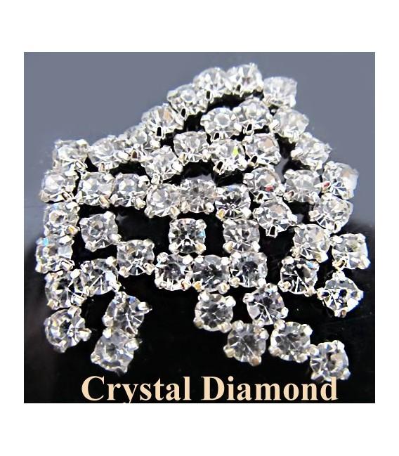 Diamond Rock Crystal Clutch Bag