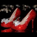 4 5 or 5.5 Glass Crystal Sexy Ruby Red Bow Heels