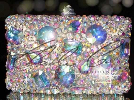 Swarovski AB Ice Crystal V Claw Casing Bag