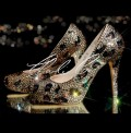 5 Swarovski  Glass Leopard Crystal Platforms