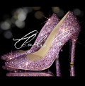 4 Swarovski Rose Pink AB Pointed Toe Stilettos
