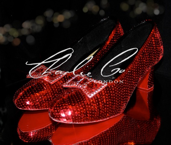 Wearable Costume Sequin Ruby Red Slippers