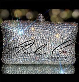 Glass Clear Crystal Clutch Bag
